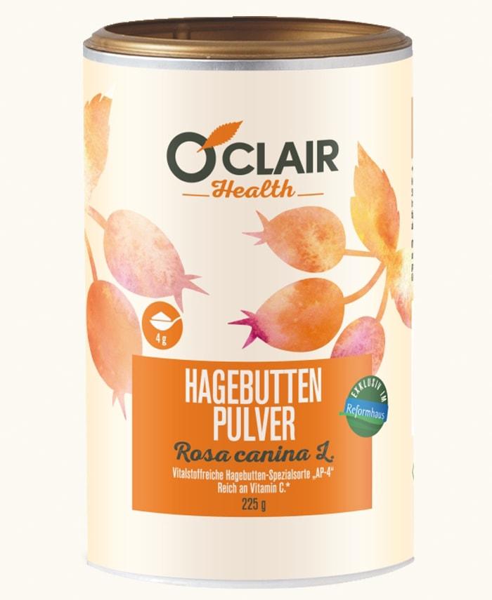 O'Clair Hagebutten Pulver neue Verpackung